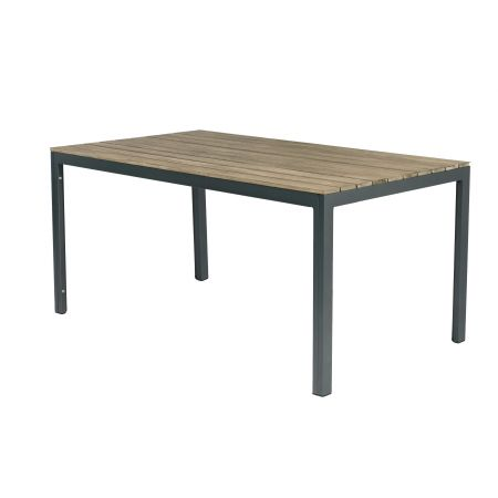 Claro Wooden Table Ant Stone Grey Frame