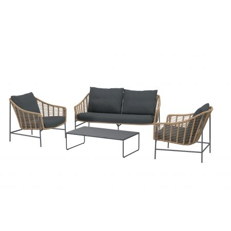 4 Seasons Outdoor Timor lounge sofa set met Dali coffee table 4 delig