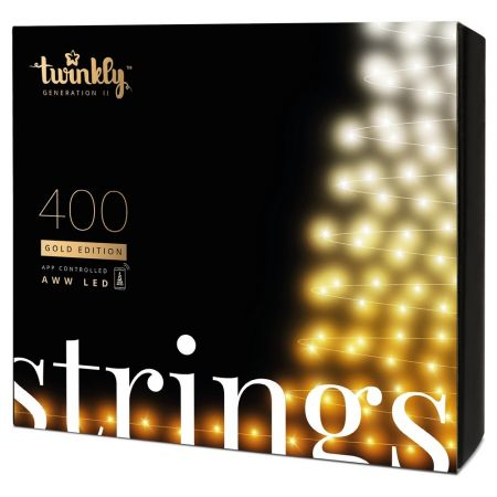 Twinkly Strings 400 LED AWW black wire Plug F